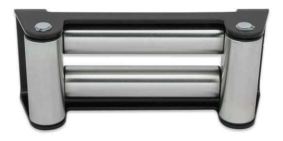 1080AOR - Anvil - 4-Way Roller Fairlead - Black & Silver Image