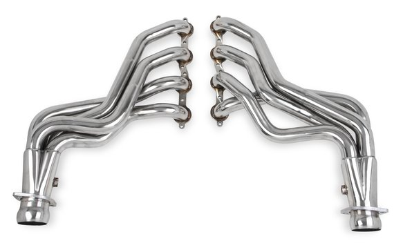 11136FLT - Flowtech Long Tube Headers + Off-Road X & Mid-Pipes - Polished Stainless Steel - additional Image