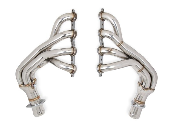 11139FLT - Flowtech C5 Corvette Long Tube Headers - Polished Stainless Steel Image