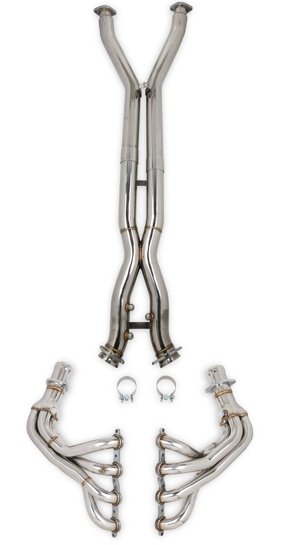 11140FLT - Flowtech C5 Corvette Long Tube Headers + Off-Road X & Mid-Pipes Image