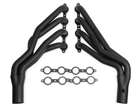 11141FLT - Flowtech Long Tube Header - Black Paint Image