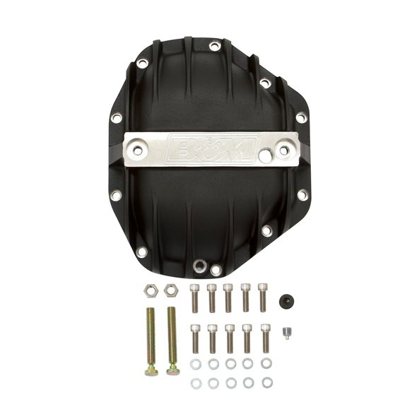 11315 - B&M Hi-Tek Aluminum Differential Cover for Dana 80 - Black - additional Image