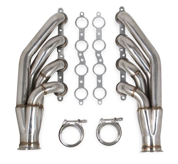 11540FLT - Flowtech LS Turbo Headers-Polished Image
