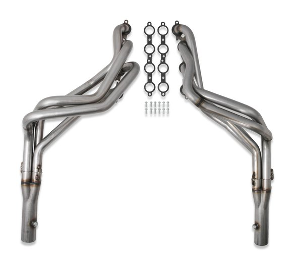 11559FLT - Flowtech Long Tube LS Swap Headers – Natural 304 Stainless Steel Image