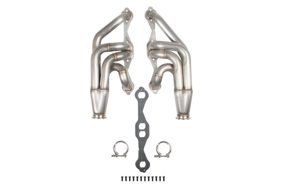 11569FLT - Flowtech Small Block Chevy Turbo Headers - Natural Finish Image