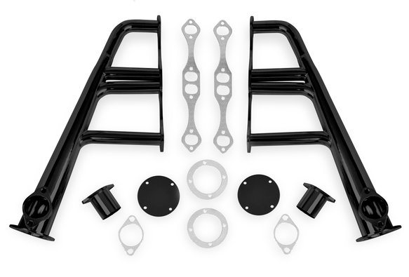 11702FLT - Flowtech Lakester Headers - Black Painted Image