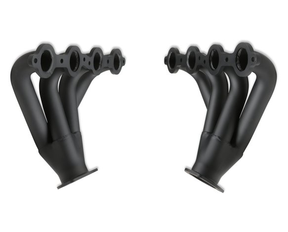 11706FLT - Flowtech Chevy LS Tight Fit Block Hugger Headers - Black Paint - additional Image