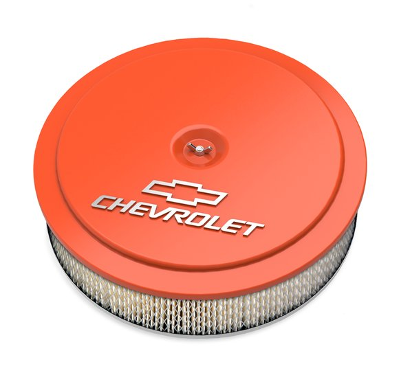 120-216 - GM Muscle Series Air Cleaner - Factory Orange Machined Image