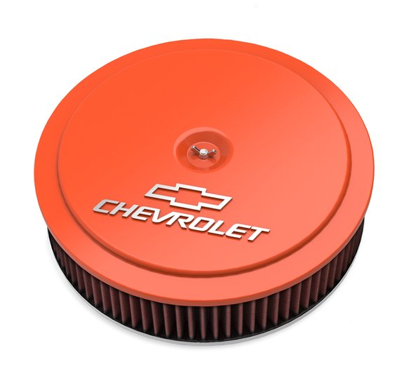 120-224 - GM Muscle Series Air Cleaner - Factory Orange Machined Image