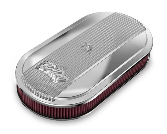 120-401 - Holley Vintage Series Oval Air Cleaner - Polished Image