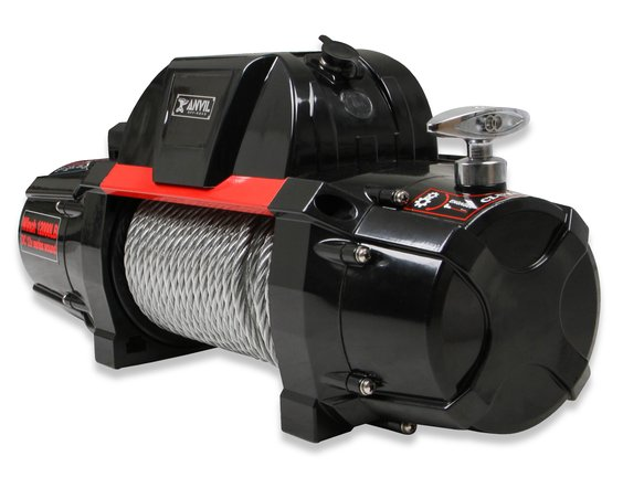 12000AOR - Anvil - 12,000 Lbs Winch w/ Metal Cable & Roller Fairlead - additional Image
