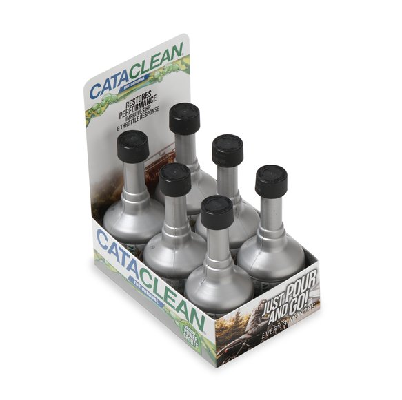 120008CAT-6 - Powersports Cataclean- Complete Engine, Fuel and Exhaust System Cleaner - 4 oz. Countertop POP 6-Pack Image