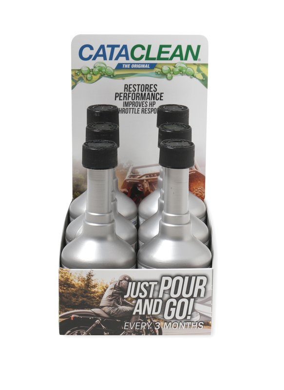 120008CAT-6 - Powersports Cataclean- Complete Engine, Fuel and Exhaust System Cleaner - 4 oz. Countertop POP 6-Pack - additional Image