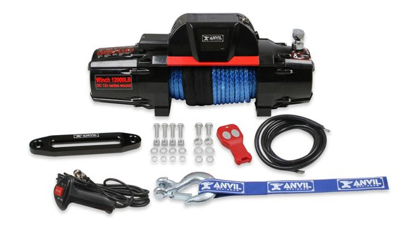 12010AOR - Anvil - 12,000 Lbs Winch w/ Synthetic Rope & Aluminum Fairlead Image