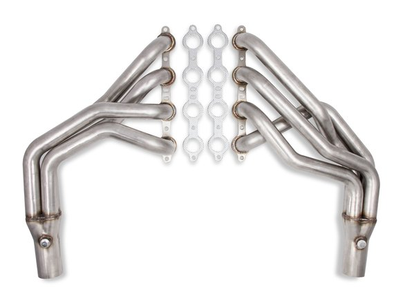 12157FLT - Flowtech Long Tube LS Swap Headers - Natural Image