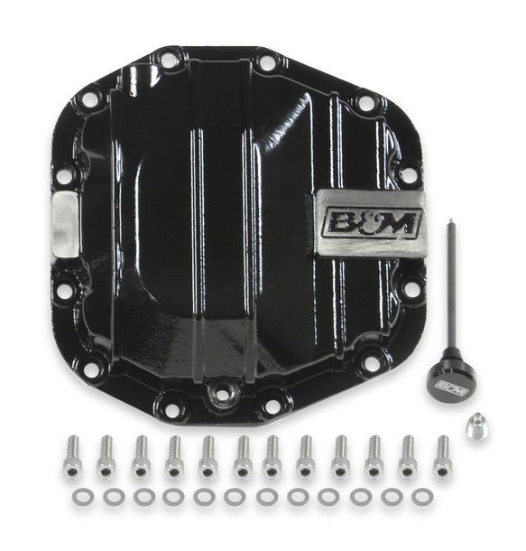 12313 - B&M Nodular Iron Dana 44 Advantek Rear Differential Cover Image