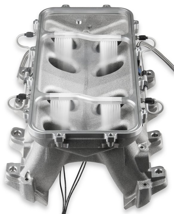 12535NOS - NOS Dry Nitrous Plate for Holley LS Hi-Ram EFI Intake Manifolds-Silver - additional Image