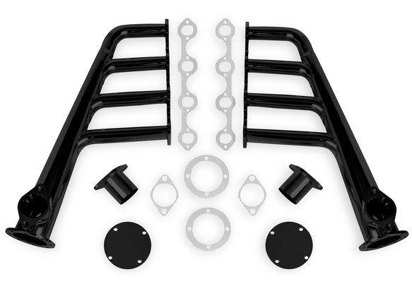 12703FLT - Flowtech Lakester Headers - Black Painted Image