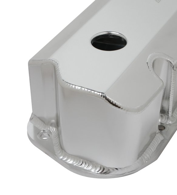 128-29QFT - Quick Fuel Fabricated Aluminum Valve Cover - Small Block Ford- Silver Finish - additional Image