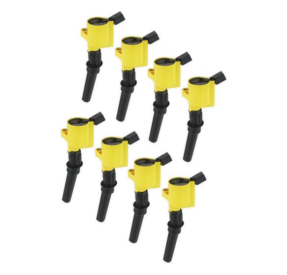 140032-8 - ACCEL Ignition Coil - SuperCoil - 1998-2008 Ford 4.6L/5.4L/6.8L 2-valve modular engines - Yellow - 8-Pack Image
