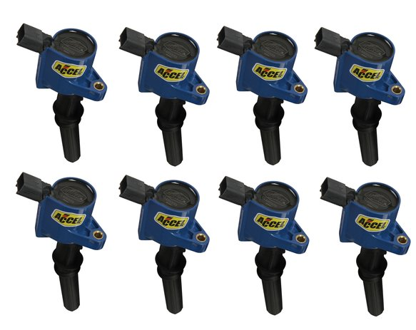 140032B-8 - Ignition Coil - SuperCoil - Ford 2 valve modular engine - 4.6/5.4/6.8L - Blue 8 Pack Image