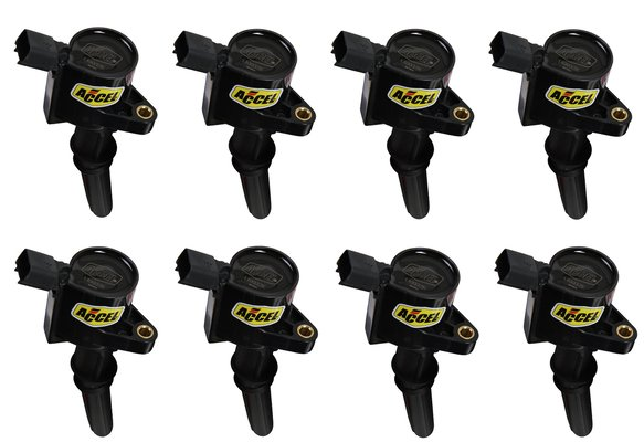 140032K-8 - Ignition Coil - SuperCoil - Ford 2 valve modular engine - 4.6/5.4/6.8L - Black - 8 Pack Image