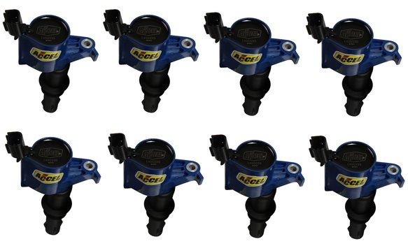 140033B-8 - Ignition Coil - SuperCoil - Ford  3 valve modular engine - 4.6/5.4L - Pack of 8 -Blue Image