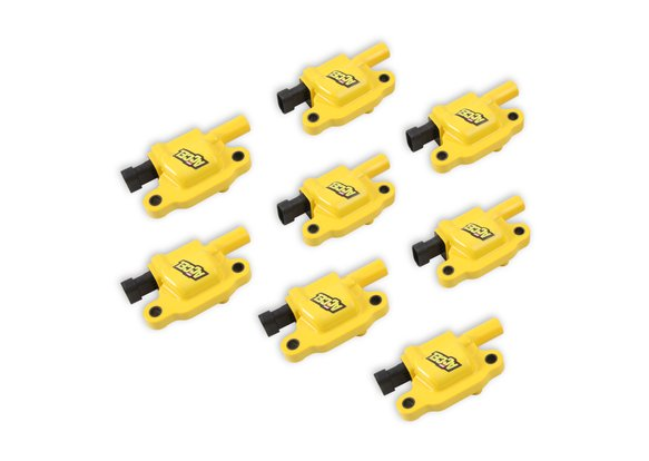 140043-8 - ACCEL Ignition Coils - SuperCoil GM LS2/LS3/LS7 engines, yellow, 8-pack Image
