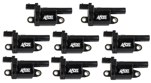 140080-8 - Accel Gen V GM Coils, 2014 and Up, Black, Round - 8 Pack Image