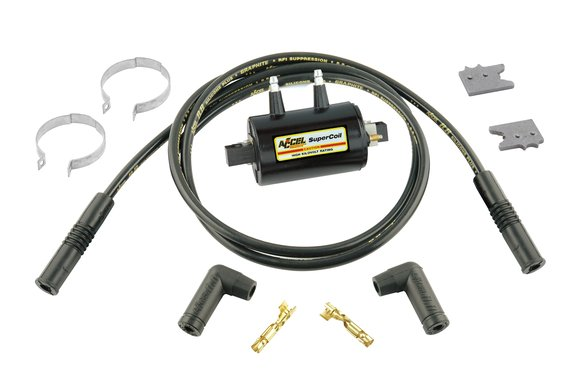 140404KS - Ignition Coil Kit - Universal Super Coil - 2-Cylinder - 0.7 Ohms Res - Black Image
