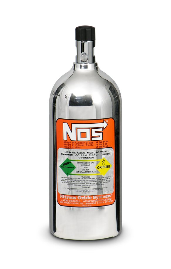 14720-PNOS - 2.5 lb Polished Nitrous Bottle Image