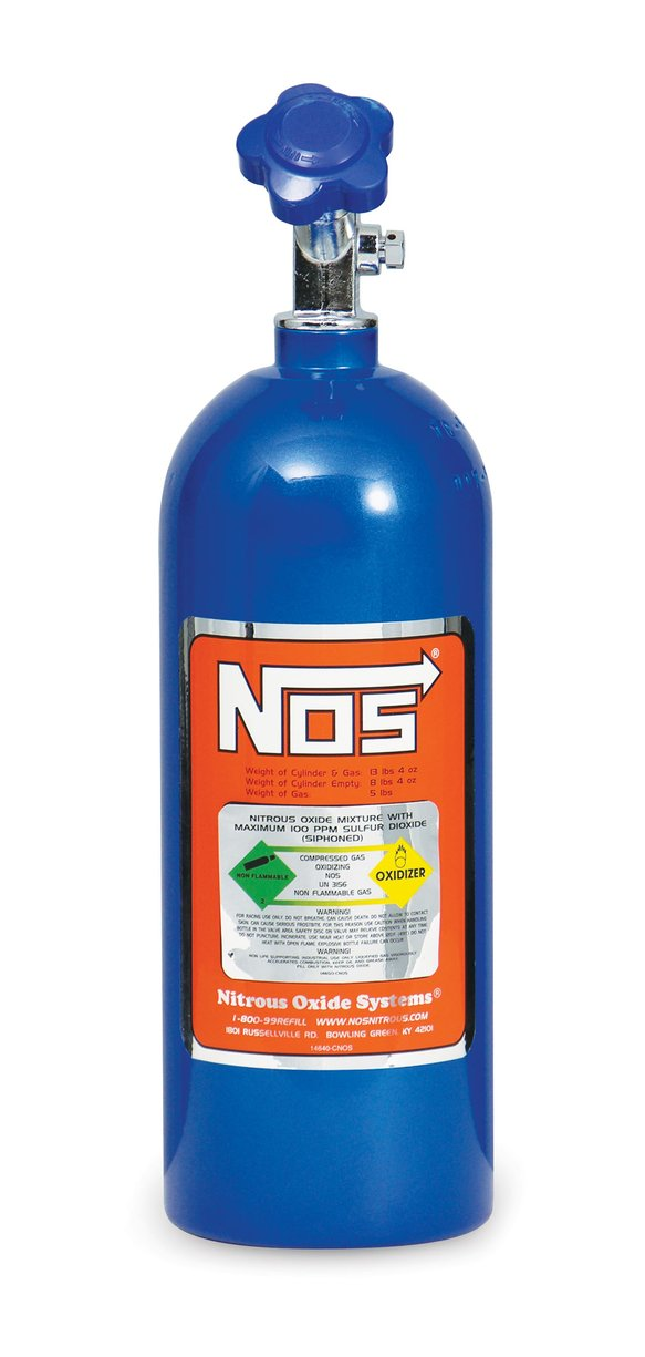 14730NOS - 5 lb Electric Blue Nitrous Bottle Image