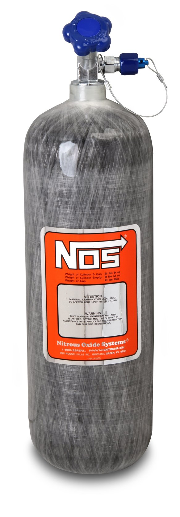 14748NOS - 12lb 13oz Carbon Fiber Nitrous Bottle Image