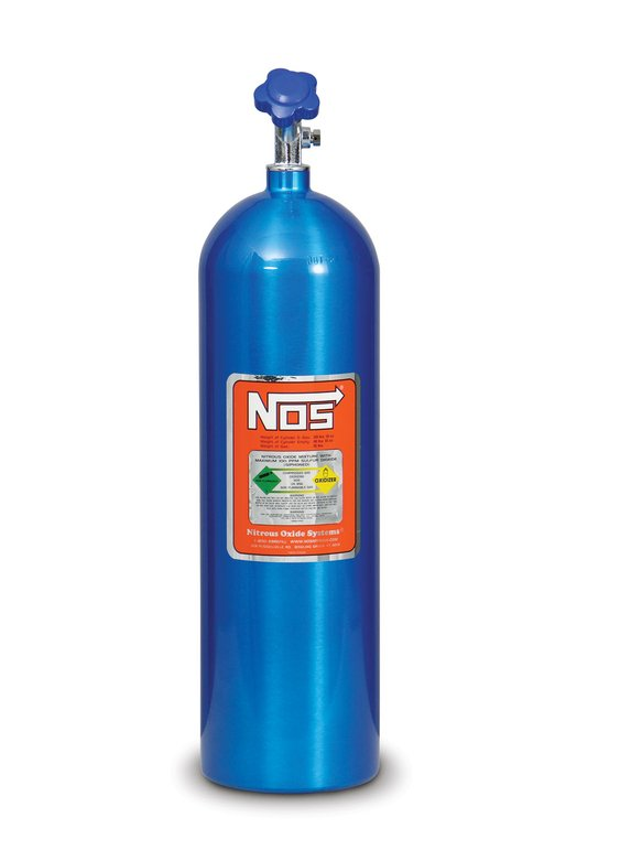 14750NOS - NOS 15 lb Electric Blue Nitrous Bottle Image