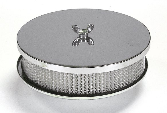 1491 - Mr. Gasket Air Cleaner - 6-1/2 Inch x 2 Inch - Chrome Image
