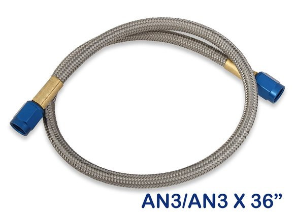 15070NOS - NOS Stainless Steel Braided Hose -3AN 3-foot Blue Image