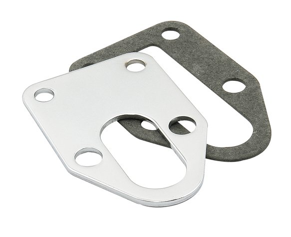 1514 - Mounting Plate for Fuel Pump - Small Block Chevy - Chrome Image