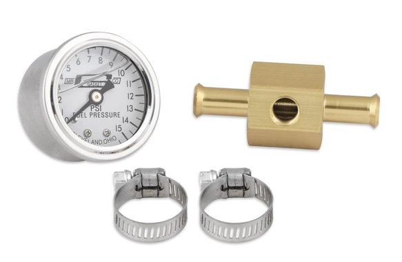 1564 - Fuel Pressure Gauge - Liquid Filled w/ Fuel Line Adapter 0-15 PSI Image