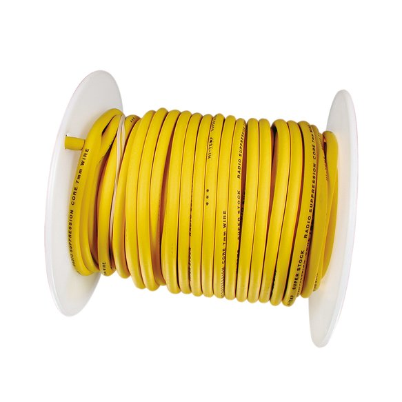 160090 - Spark Plug Wire Roll - Super Stock - Copper Core - 7MM  - 100Ft - Yellow Image
