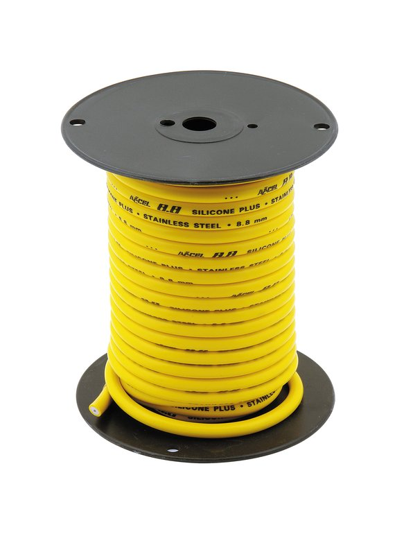 160094 - Spark Plug Wire Roll - Stainless Steel Core - 8.8MM  - 60Ft - Yellow Image
