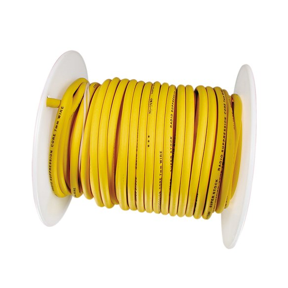 160095 - Spark Plug Wire Roll - Spiral Core - 8.8MM  - 60Ft - Yellow Image