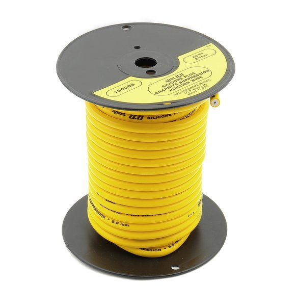 160096M - Spark Plug Wire Roll - Spiral Core - 8.8MM  - 60Ft - Yellow Image