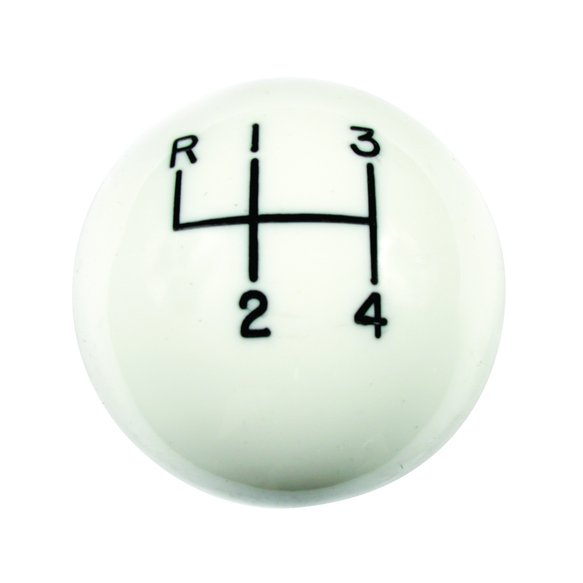1630002 - Shift Knob - White 4 Speed 3/8 - 24 Threads Image