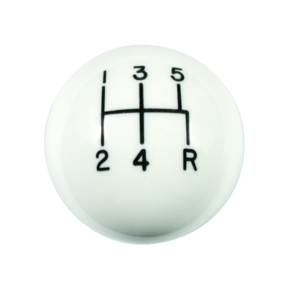 1630025 - Hurst Shift Knob - White 5 Speed 3/8 - 16 Threads Image