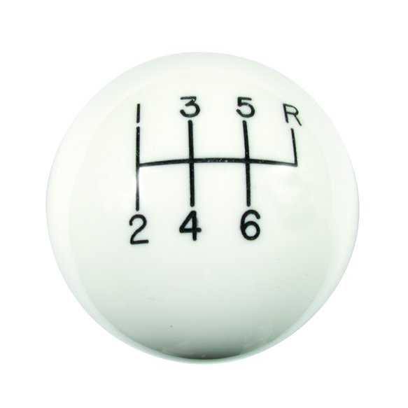 1630056 - Hurst Shift Knob - White 6 Speed 9/16 - 18 Threads - C5 Corvette Image