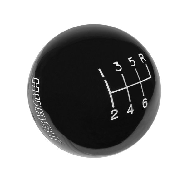 1630156 - Hurst Shift Knob - Black 6 Speed 9/16-18 Threads Image