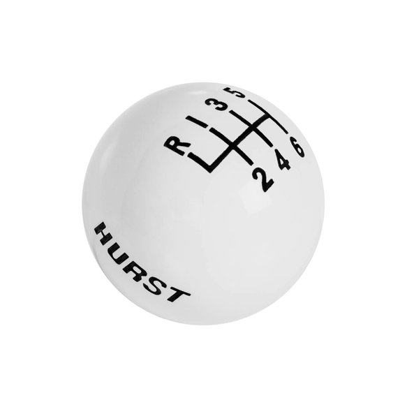 1630185 - Hurst Shift Knob - White 6 Speed 3/8-16 Threads Image