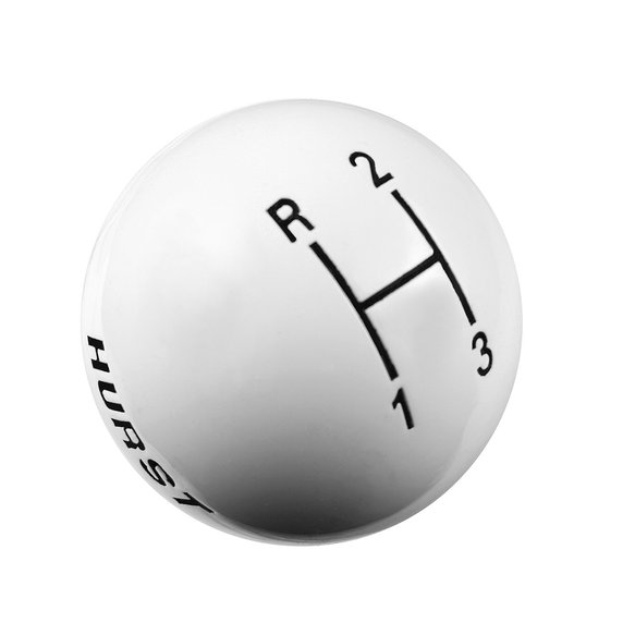 1637624 - Hurst Shift Knob - White 3 Speed 3/8-16 Threads Image