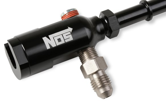 17002NOS - NOS Late Model Billet Fuel Line Adapter - Fits 3/8