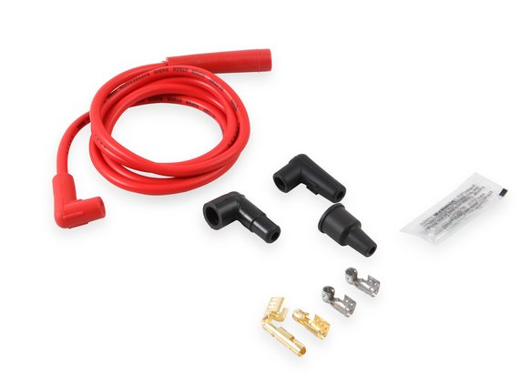170500R - Single Wire Replacement Kit - Staight and 90° Spark plug boots - Universal - Red Image